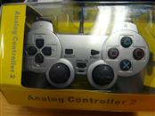 M&M MERCHANDISERS M03896SL SILVER COLORED ANALOG CONTROLER FOR PS2